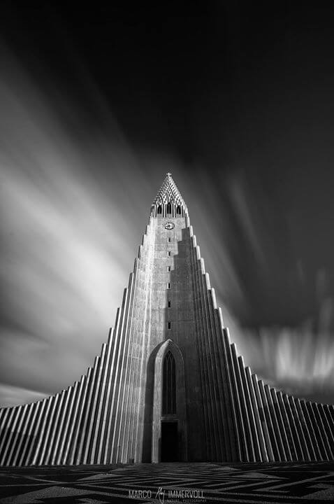 Hallgrimskirkja Black and White
